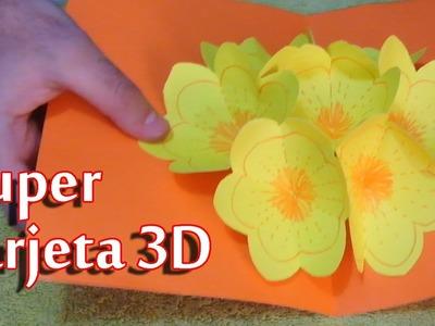 Super tarjeta 3D - Especial día de la madre