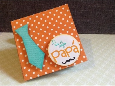 TUTORIAL Mini álbum-cuponera Día del Padre.Mini álbum Fathers day Scrapbooking