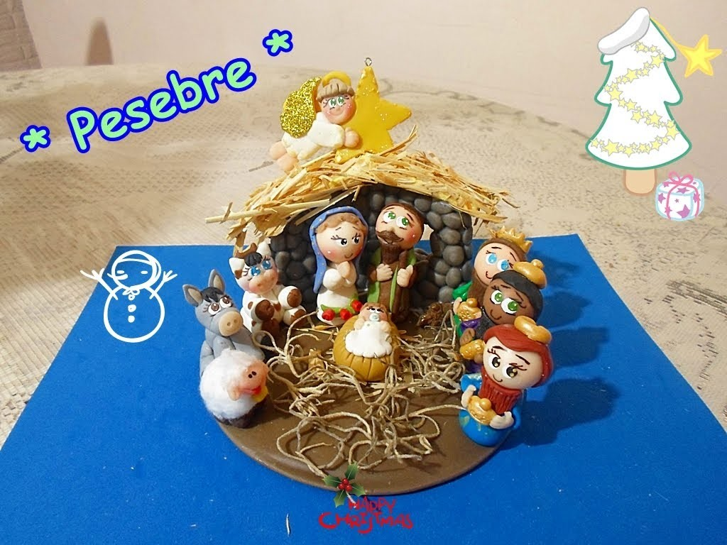 Tutorial Pesebre en porcelana fría FACIL.  Nativity Scene Cold porcelain EASY