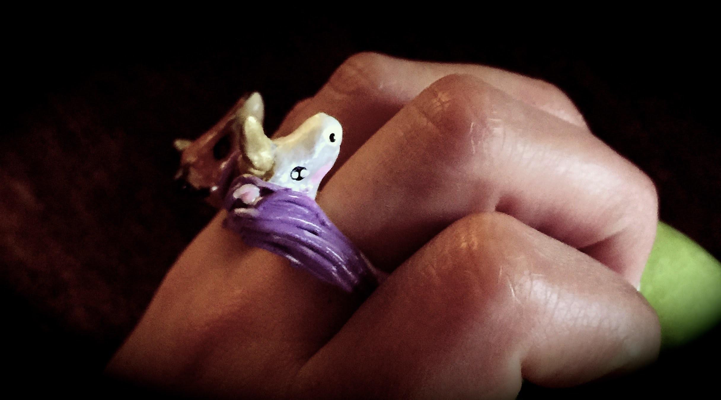 DIY: polymer clay unicorn ring.como hacer un anillo de unicornio