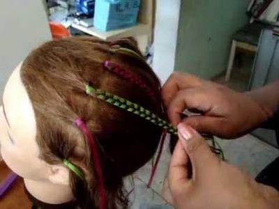 Trenzado de cabello con liston