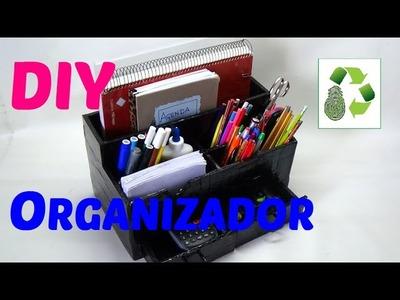 113. DIY ORGANIZADOR DE ESCRITORIO (RECICLAJE DE CARTON)