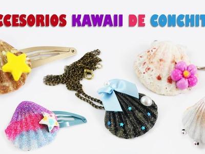 Accesorios kawaii con conchitas de mar  {ESTILOS LOLITA y FAIRY KEI} - Manualidades de Moda Kawaii