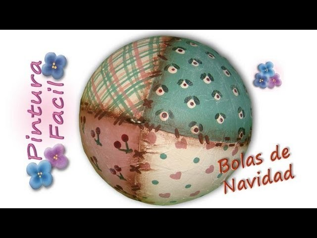 Adornos de Navidad Bolas Country *Painting Christmas Balls* Bolas de Navidad 2014 Pintura Facil