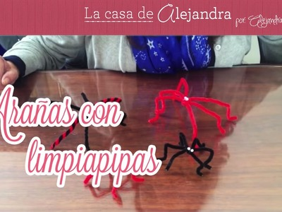 Arañas con limpiapipas - DIY spiders with pipecleaners
