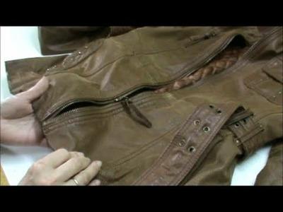 Arreglar una cremallera cambiando el cursor en una chaqueta