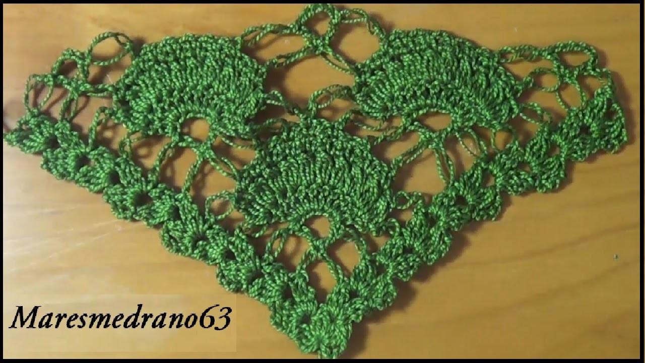 Chal verde a crochet