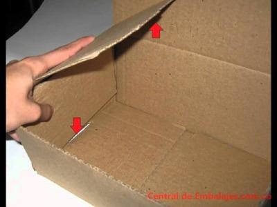 Cómo armar una caja de carton tipo cofre