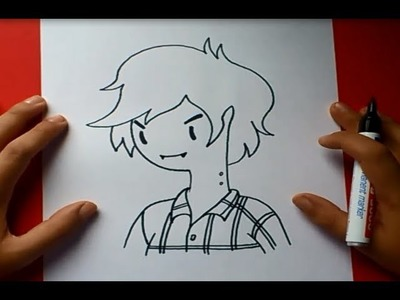 Como dibujar a Marshall Lee paso a paso - Hora de aventuras | How to draw Marshall Lee
