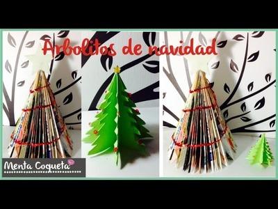 Como hacer Arboles de navidad con papel y revista ❅