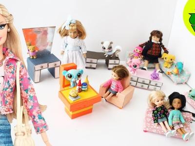 Cómo hacer muebles para tus muñecas (2da parte) - 7 manualidades  - Manualidades para muñecas: