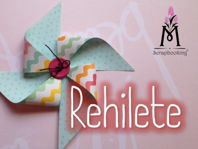Cómo hacer rehiletes con papel.Paper pinwheels