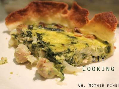 Cómo hacer una quiche o tarta de verduras en 4 minutos