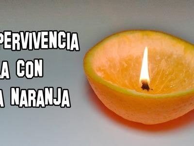 Como Hacer una Vela con una Naranja | Supervivencia