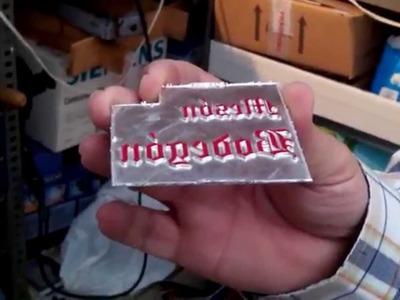 Cómo realizar un cliché de magnesio para trabajar en tipografía o termoimpresión