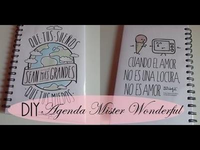 DIY: AGENDA MISTER WONDERFUL | BACK TO SCHOOL ♥ Laura Yanes