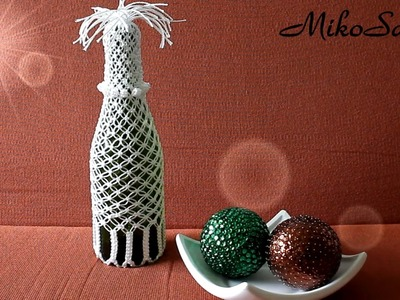 DIY Botella Reciclada con Macrame. DIY Recycled Bottle with Macrame - MikoSaa