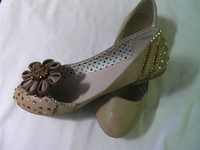 DIY COMO ADORNAR  ZAPATILLAS, MANOLETINAS DE FIESTA - GARNISH PARTY SHOES