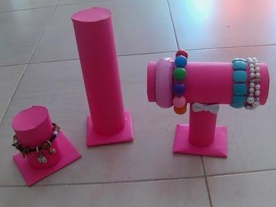 DIY Organizador de pulseras reciclado