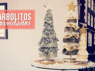 Haz arbolitos de navidad, muy fácil! -Anie