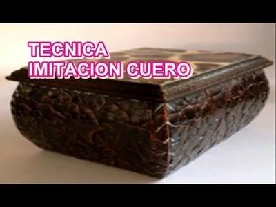 IMITACION CUERO CON CASCARA DE HUEVO