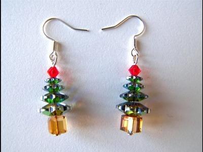 Manualidades Navidad 1 - Pendientes Arbol de Swarovski Elements