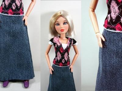 Manualidades para muñecas: Como hacer una falda para muñecas