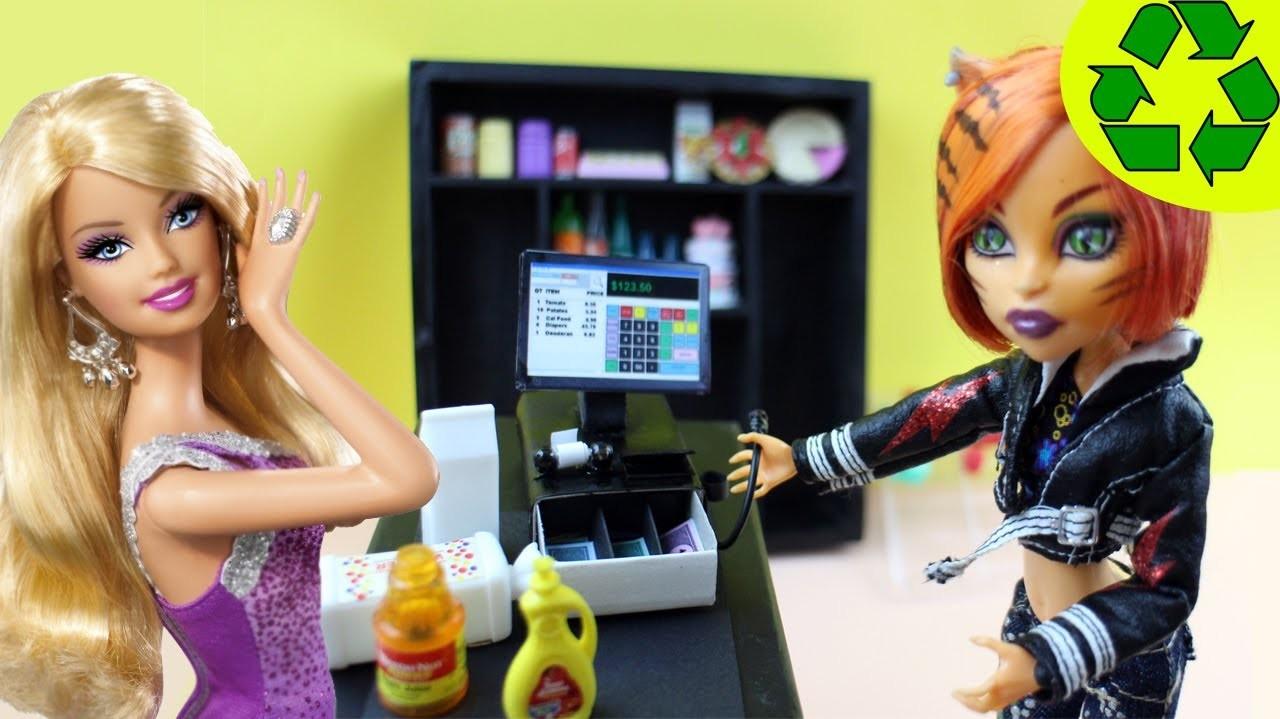 Manualidades para muñecas: Haz una caja registradora para tus muñecas - EP 732