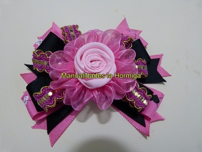 Moños  flores en cinta fáciles de elaborar para decoración de peinados paso a paso   No. 322