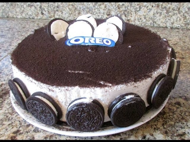 Pastel de Oreo sin Hornear.Oreo cake  No Bake