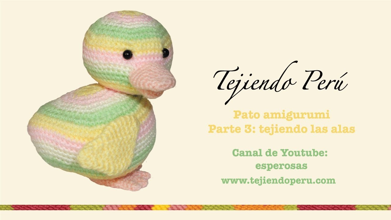 Pato amigurumi (Parte 3: tejiendo las alas)