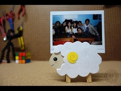 Portafoto  oveja. DIY - Manualidades
