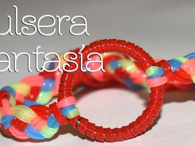 Pulsera fantasía de colores - DIY - Muy fácil!!