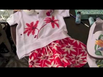 Reciclar ropa con pintura en tela: zapatillas, camisetas.  DIY