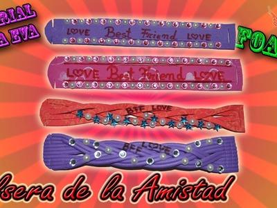 ♥ Tutorial: Pulsera de la Amistad de Goma Eva (Foamy) ♥
