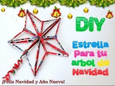 80. DIY ESTRELLA NAVIDEÑA (RECICLAJE DE PAPEL)