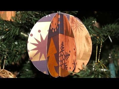 Adornos para el Árbol de Navidad 5: Esferas 3D - DIY - Christmas Tree Decoration 5: 3D Spheres