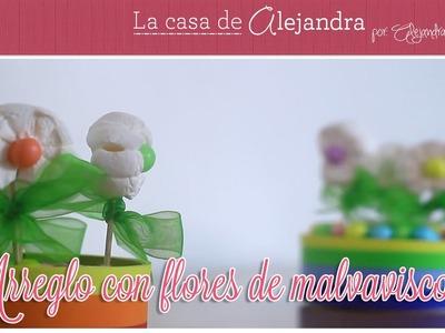 Arreglo Con Flores de Malvavisco - DIY- Marshmallow Flowers