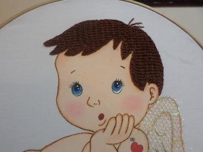 Bordado Fantasía Cabello Cupido