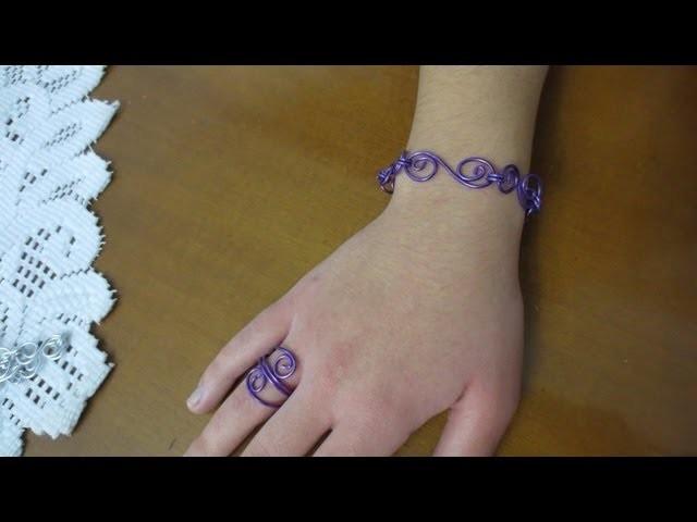 Brazalete y anillo a conjunto (Fuensanta Barea)