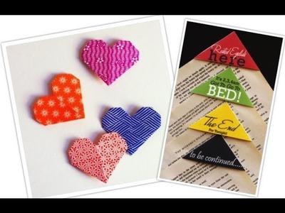 ¡Haz tus propios separadores de libros! Bookmarks DIY