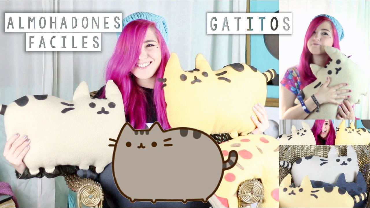 ¡HAZ TUS PUSHEEN CAT ALMOHADONES! ✩ DIY facil - Ann Look
