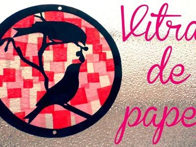 ¡Haz un vitral de papel para San Valentín! - Blooudland :)