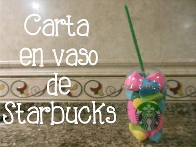 Carta en vaso de Starbucks