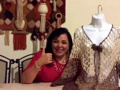 Chaleco de picos con manga - Tejido con gancho fácil - Tejiendo con Laura Cepeda