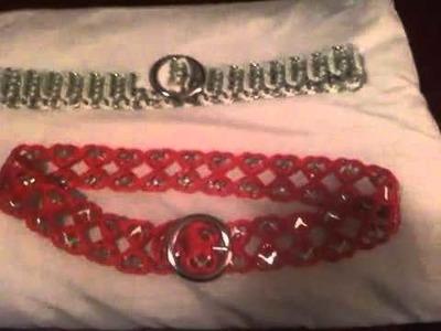 Cinturón hecho de anillas de lata