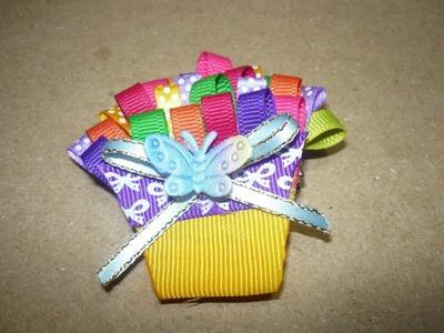 Clips cupcakes para el cabello en cinta delgada paso a paso No.157 Manualidadeslahormiga