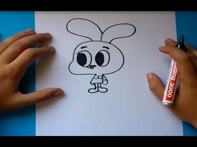 Como dibujar a Anais paso a paso - El asombroso mundo de gumball | How to draw Anais