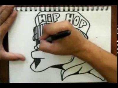Como dibujar un graffiti character con gorro