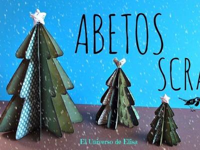 Cómo hacer un Abeto Scrap, Manualidades para Navidad, Abeto Scrap, Scrap Christmas Tree